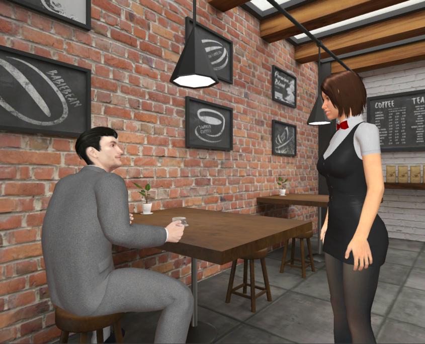 English lesson - coffee shop